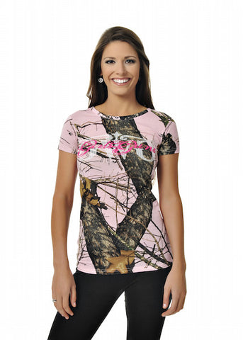 Classic Mossy Oak Break-Up Pink® Tee - Girls With Guns