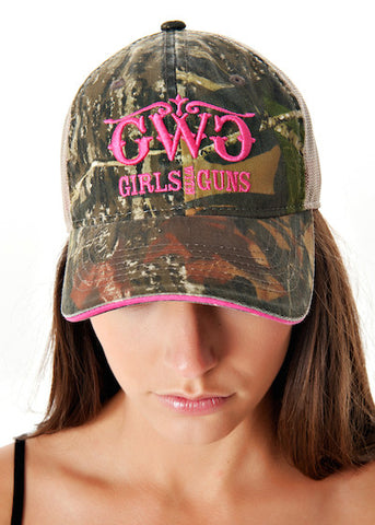 Classic MO Trucker Hat - Pink - Girls With Guns - 1