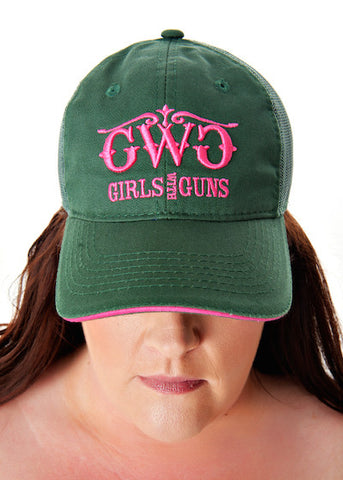 Classic Trucker Hat - Forest - Girls With Guns - 1