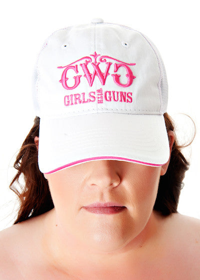 Classic Trucker Hat - White - Girls With Guns - 1