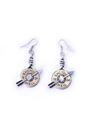 Double Shot Earrings - Bronze - Girls With Guns