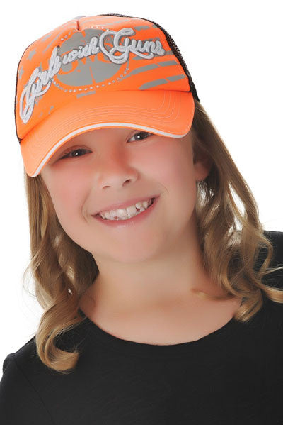 GWG Jr. Trucker Hat Orange - Girls With Guns
