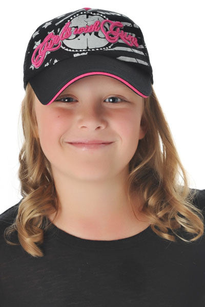 GWG Jr. Trucker Hat Black - Girls With Guns