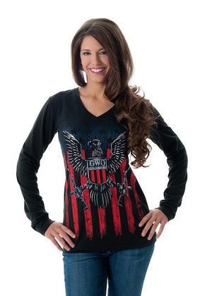 2nd Amendment Long Sleeve Black Tee Shirt by Girls With Guns