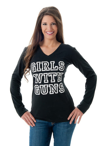 Stone GWG Long Sleeve Black - Girls With Guns