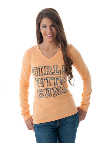 Stone GWG Long Sleeve Apricot - Girls With Guns