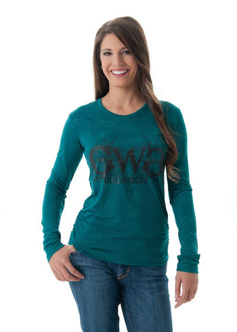 Buck Head Burnout Teal - Girls With Guns