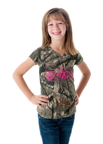 GWG Mossy Oak Kids Tee - Girls With Guns