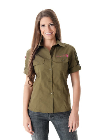 GWG Military Shirt Olive - Girls With Guns