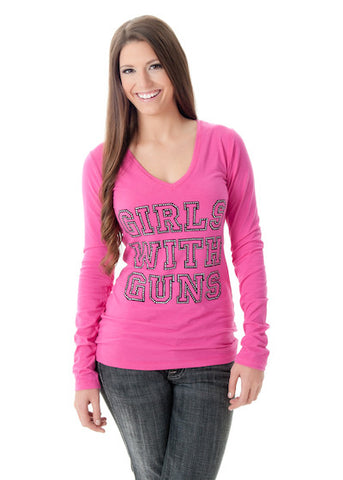Stone GWG Long Sleeve Pink - Girls With Guns