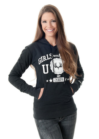 Buck Pullover Black - Girls With Guns