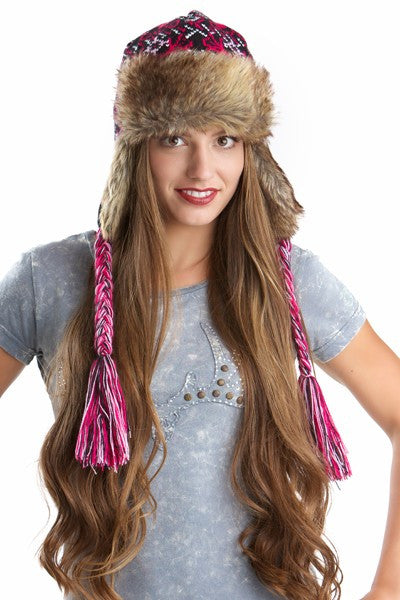 GWG Earflap Beanie Pink - Girls With Guns
