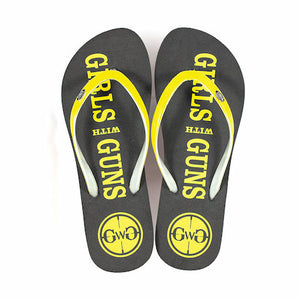 GWG Flip Flops - Yellow - Girls With Guns