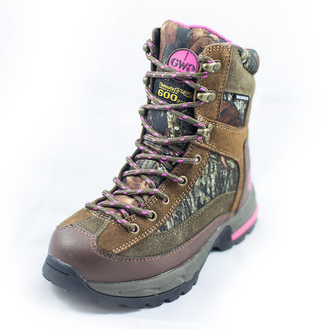 "Tigress 8"" Boot Suede & Camo - Girls With Guns"