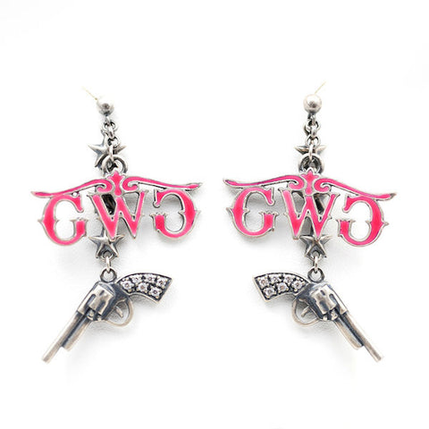 Montana Silversmiths Pistol Earrings - Girls With Guns