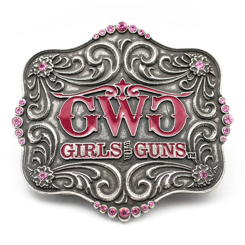 Montana Silversmiths Buckle - Girls With Guns