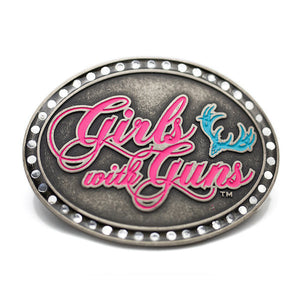 Oval Neon Attitude Buckle - Girls With Guns