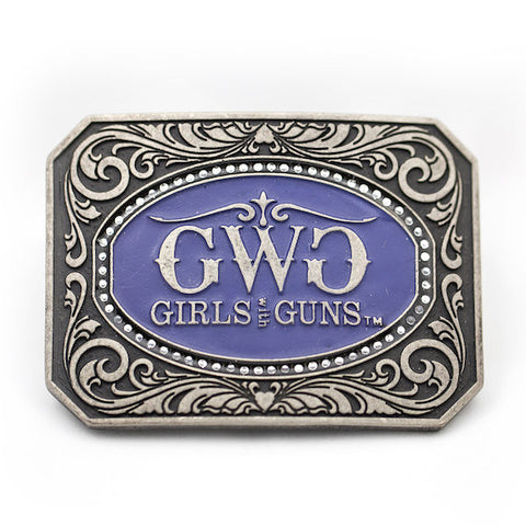 Cameo Attitude Buckle - Girls With Guns