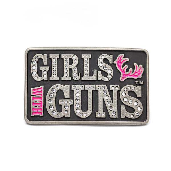 Attitude Buck Head Buckle - Girls With Guns