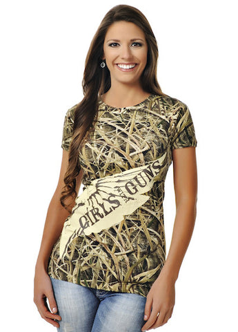 Mossy Oak Blades Duck Tee - Girls With Guns