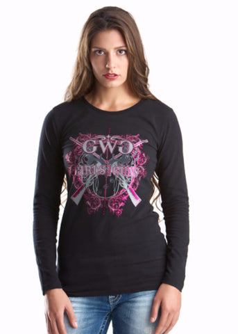 GWG Insanity Long Sleeve Black and Pink - Girls With Guns