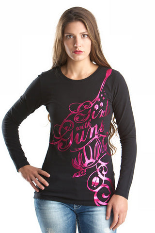 GWG Elk Long Sleeve Black - Girls With Guns