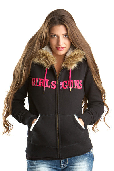 GWG Fur Hoodie - Girls With Guns