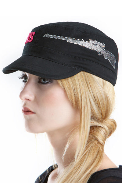 GWG Gun Military Hat Charcoal - Girls With Guns - 1