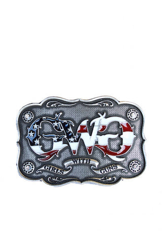 Montana Silversmiths Patriot Buckle - Girls With Guns