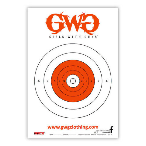 GWG Shooting Target - 25pk - Girls With Guns