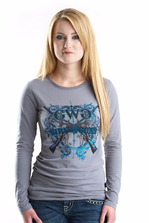 GWG Insanity Long Sleeve Charcoal - Girls With Guns