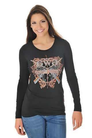 GWG Insanity Long Sleeve Black and Orange - Girls With Guns