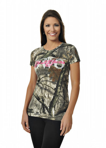 GWG Mossy Oak Tree Stand® Tee w/Pink - Girls With Guns