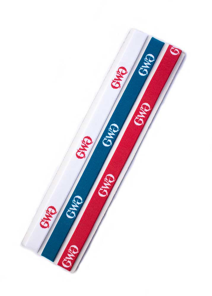Headband 3 Pack in Patriot Red White and Blue with GWG Logo by Girls With Guns