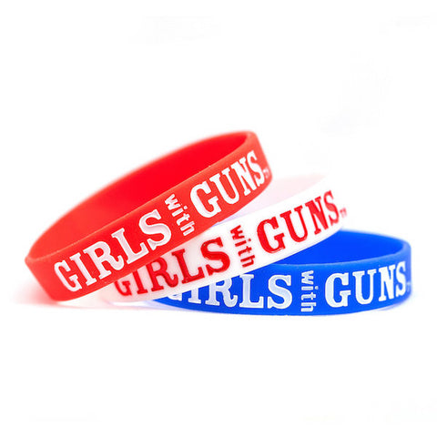 Wristband Pack - Patriotic - Girls With Guns