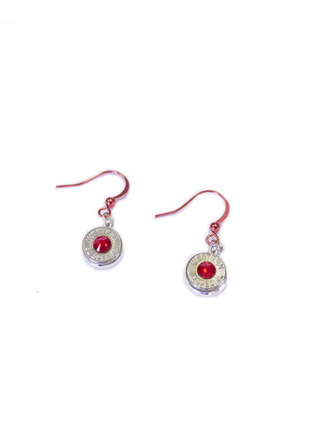 Bullet Dangle Earring Red - Girls With Guns