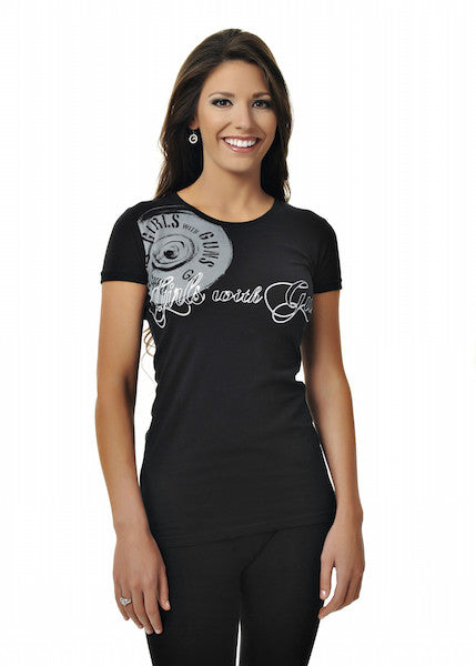 Summer Shot Tee Black and White - Girls With Guns