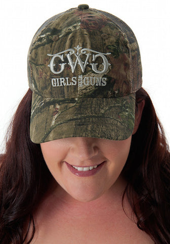 GWG Vintage Trucker Hat - Mossy Oak Infinity - Girls With Guns - 1