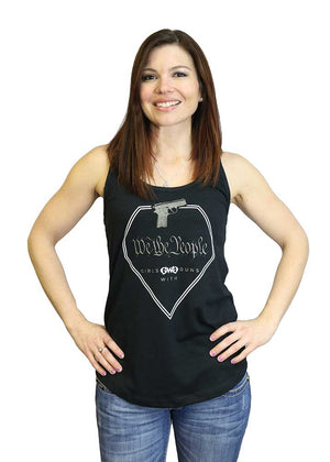 We The People Racerback Tank Top - Black