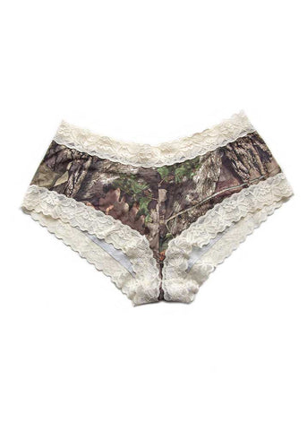 Lace Boy Short Panties Mossy Oak Country w/Cream