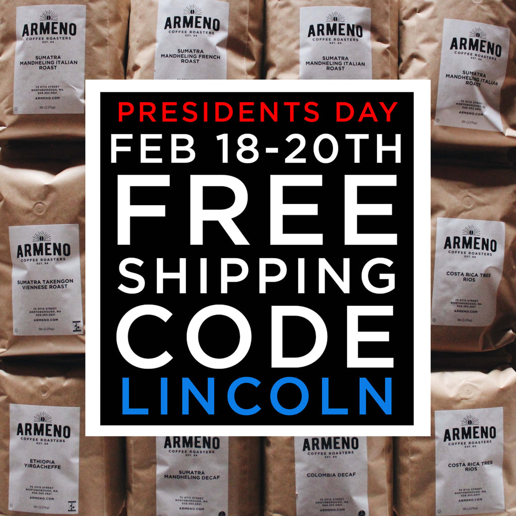 Free Shipping for President's Day! - The Weekly Grind 2018