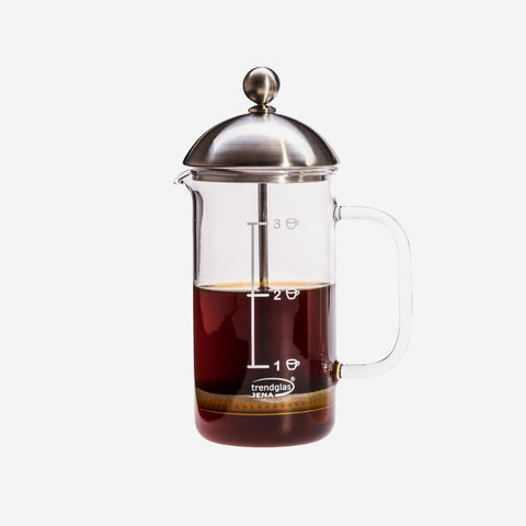 Kaffeebereiter French Press aus Glas, 0,35 l