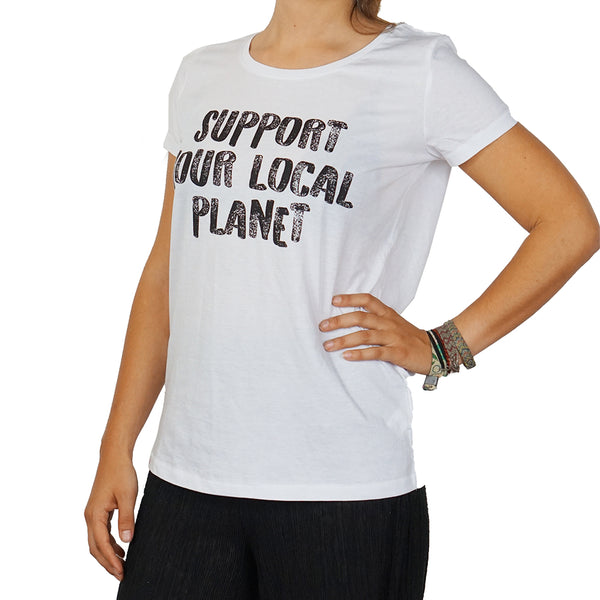 "T-Shirt ""Support your local planet"""