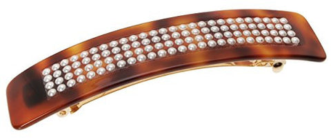 France Luxe Regular Pearl Barrette, Tortoise/White Pearl