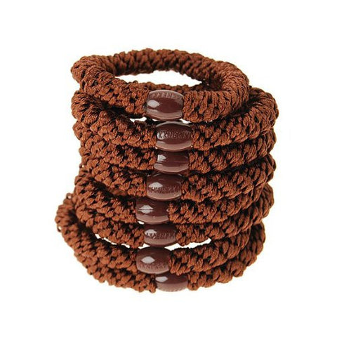 L. Erickson Ponytail Holders - Set of Eight - Mocha