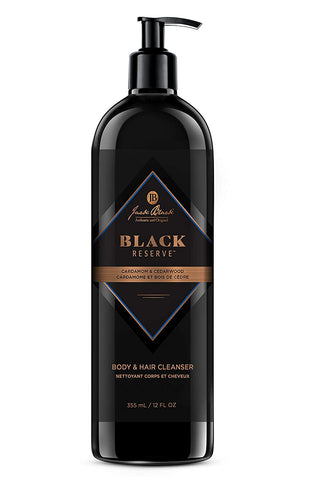 Jack Black Black Reserve Body & Hair Cleanser with Cardamom & Cedarwood