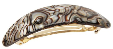 France Luxe Oval Volume Barrette - Onyx