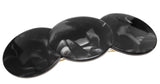 France Luxe Triple Simple Circle Barrette - Nacro Black