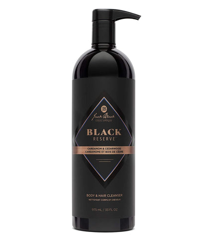 Jack Black Black Reserve Body & Hair Cleanser with Cardamom & Cedarwood 33oz