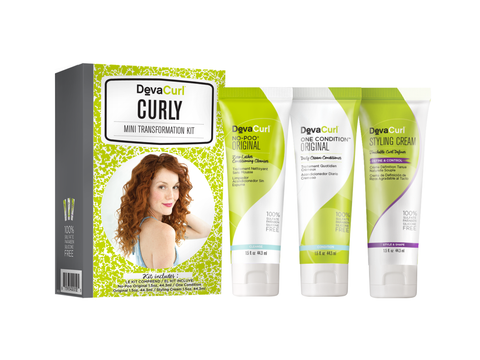 DevaCurl Mini Transformation Kit - Curly
